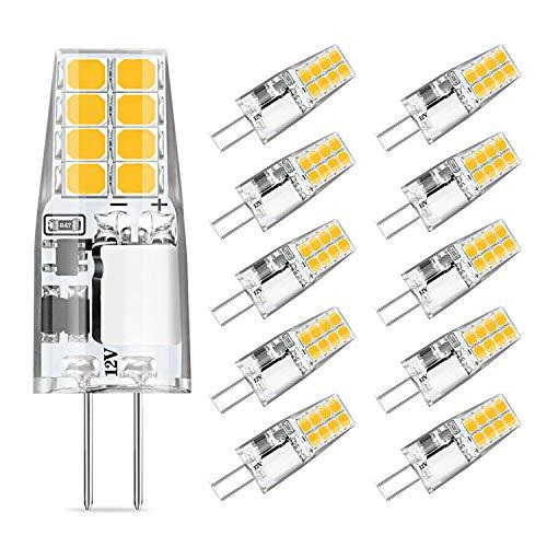 Eco.luma G4 LED Lampen 3W Ersetzt 20W 30W Halogenlampen, 3000K Warmweiß Birnen 12V AC/DC LED G4 Leuchtmittel, Kein Flackern, Nicht Dimmbar Licht Glühbirnen, 10er Pack