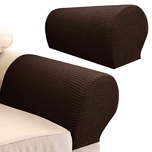 Your's Bath Armlehnenbezüge, Spandex, Stretch-Stoff, wasserdicht, rutschfest, Möbelschutz, Schonbezüge für Sessel, Sofa, Couch, Liegestuhl, 2 Stück Augenbrauen