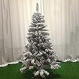 Simulación de árbol de Navidad Artificial Árbol de Navidad Artificial Cubierto de Nieve con bisagras Árbol de Navidad Flocado Blanco con Soporte de Metal Resistente (Color: A; Tamaño: 4 pies (1,2 m)