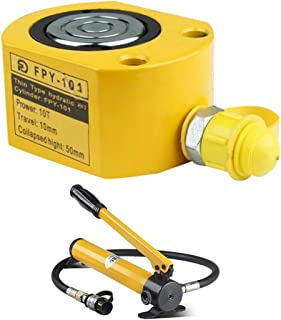FPY 10T Hydraulischer Flaschenzylinder+CP 180,Industrie heber mit Einzel 10/20/30/50/100T Hydraulischer Zylinder ultradünn Strichstärke bis 72 mm