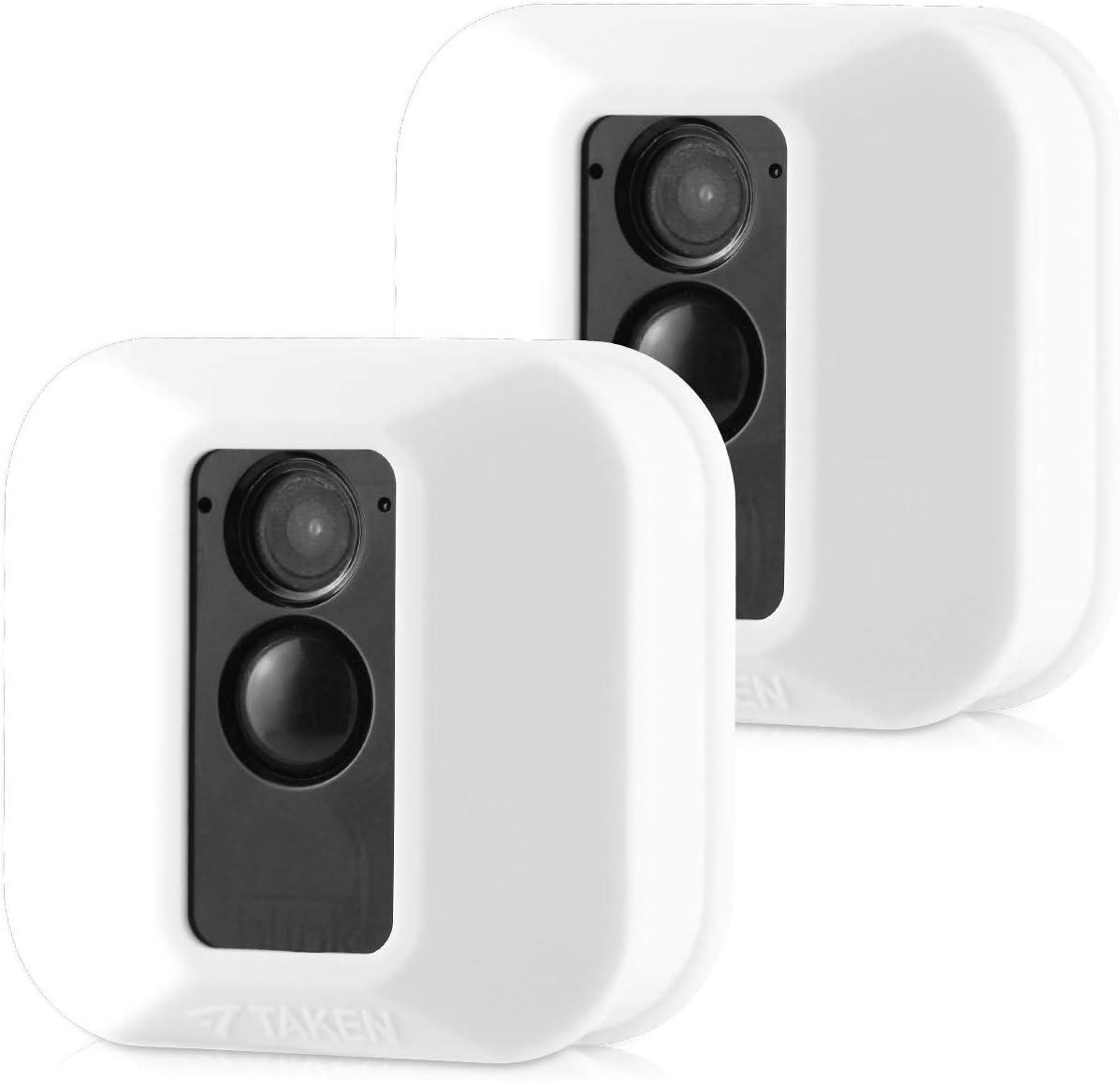 Jessy Silikon Schutzhülle Für Blink Xt Xt2 Sicherheitskamera Kratzfest Uv Und Witterungsbeständig 2 Stück Weiß Elektronik