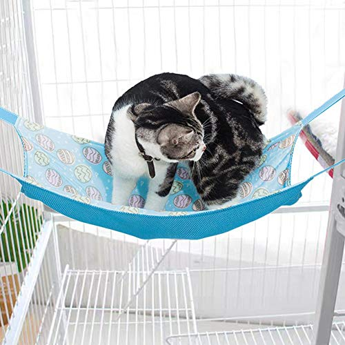 niyin204 Cat Hammock Summer Bed Breathable Mesh Animal Hammock Bed, Comfortable Hanging Hammock Bed for Cats/Small Dogs/Rabbits/Other Small Animals, 21 x 15 Po