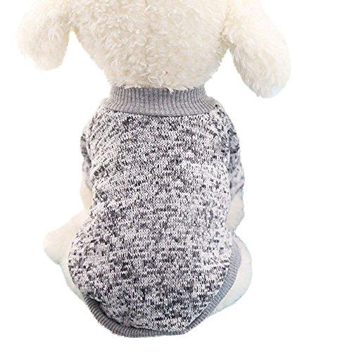 Amphia - Haustier Pullover Pullover,8 Farbe Haustier Hundewelpen Klassische Pullover Fleece Pullover Kleidung warme Pullover Winter