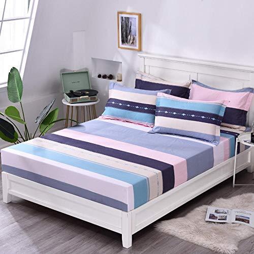 HPPSLT Unterbett Soft-Matratzen-Topper, Matratzenschutz Boxspring-Betten geeignet Das Bettlaken Baumwolle Bedruckt staubdicht-13_1.2x2.0m