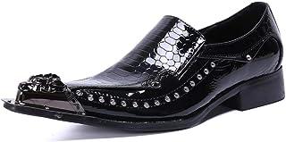YOWAX Zapatos imitación de Piel de Serpiente Zapatos del Modelo de Piel de Hombre para Formal, Oficina, Partido, de Negoci...