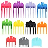 11Pcs Colorful Professional Hair Clipper Guides Attachments Combs,11 Sizes Clipper Guards,Hair Clipper Replacement Guards Set, Great for Most Size Hair Clippers Trimmers