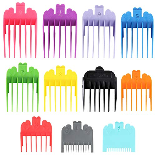 11 Pieces Professional Hair Clippers Guards Combs Replacement Coded Guide Combs (11 Sizes)
