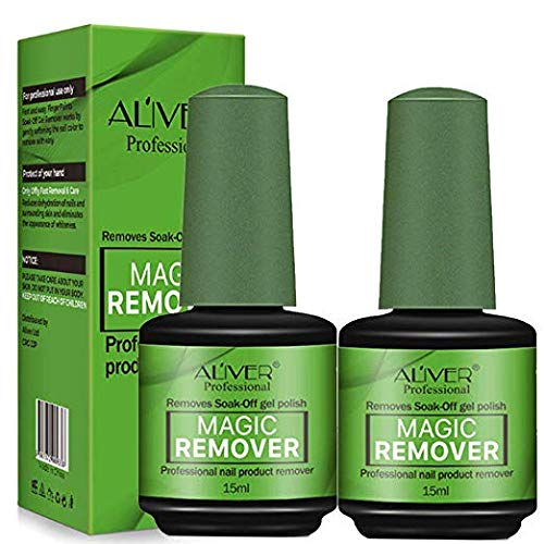 2 Pack Magic Nail Polish Remover, Removes Gel Polish Easily And Quickly,Professional Removes Soak-Off Gel Polish.