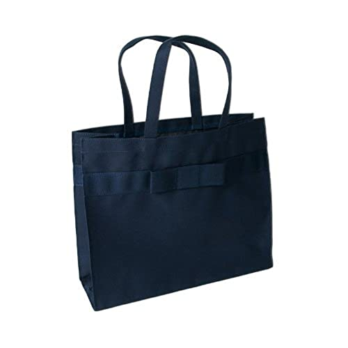 【横型】完全自立型グログランリボンサブバッグ【紺】【黒】 お受験・学校用・フォーマルに