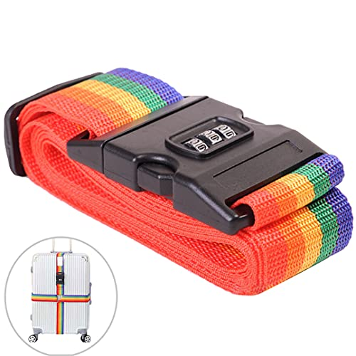 Cintura portabagagli, valigia alta elastica, cintura elastica regolabile per marsupio con serratura a codice e più applicazioni (colore)
