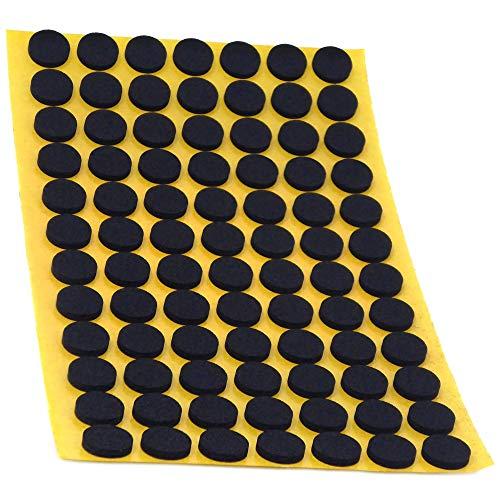 128 x Antirutsch Pads aus EPDM / Zellkautschuk | rund | Ø 12 mm | Schwarz | selbstklebend | Rutschhemmende Pads inTop-Qualität (2.5 mm)