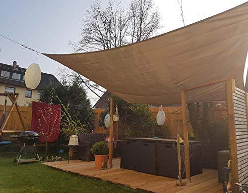 AWYYSYS - Toldo antienvejecimiento, 3 x 4 m, resistente al agua, protección UV 95% para patio, terraza, patio, jardín, piscina