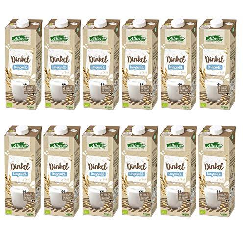Allos - Dinkel Drink ungesüßt - 1 l - 12er Pack