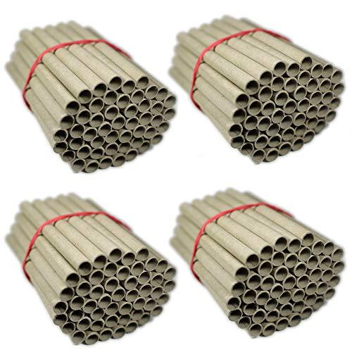 URBAN BEES 200 Papierhülsen für Insektenhotel zum selber Bauen (Bausatz) als Bruthülsen, Papphülsen, Nisthülsen, Pappröhrchen - 8mm x 10mm x 120mm für Bienen/Wildbienen