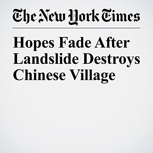 Hopes Fade After Landslide Destroys Chinese Village copertina