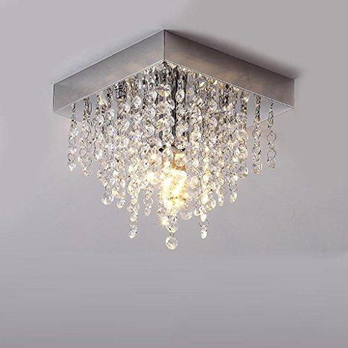 LED Kristall-Deckenleuchte E14 Moderne Eckig Design Leuchte Anhänger Kristall kronleuchter Innen Decke Beleuchtung Kristalllampe Deckenlampe für Wohnzimmer Schlafzimmer Decor Lüster