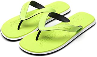 Men's Summer Flip Flops, Wear-Resistant Rubber Sandals Comfortable Non-Slip Slippers Toe Post Thongs Beach Shoes for Apartments, Hotels, Houses,Travel,Green,39/40