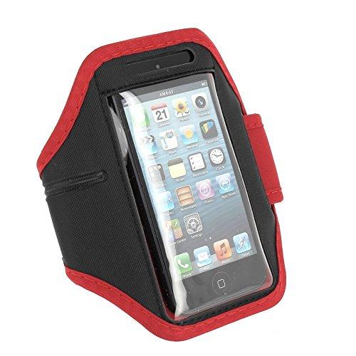 Acce2S Sportarmband Rot für Bouygues Telecom BS 403verstellbar