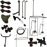 Kingston Brass CCK3145AL Vintage Wall Mount Down Spout Claw Foot Tub and Shower Package, 3-3/8-Inch, Oil Rubbed Bronze