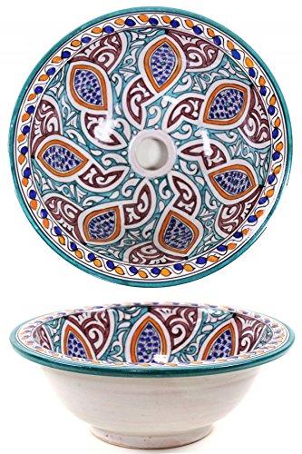 Oosterse Marokkaanse keramische wastafel waskom opzetwastafel - Marrakesch 004-40cm