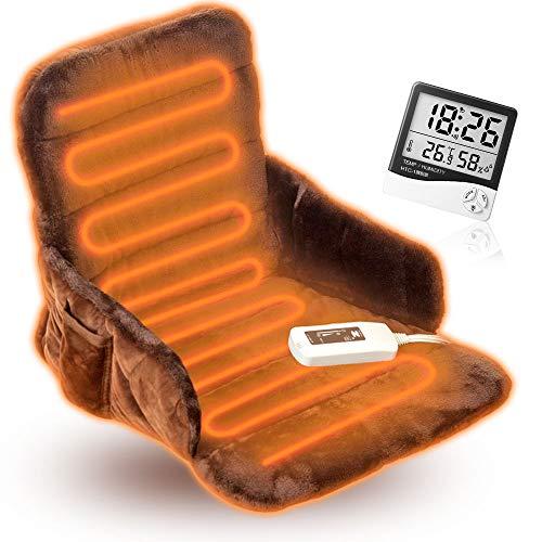 椅子用 ホットマット(ヒーター付きクッション)腰すっぽりヒーター ZR-51HT ゼンケン正規品「湿度&温度計」付き