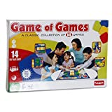Toys and Games 14 different game in one Be the first to reach the finish square after beating all the other players in the different games - that is the objective Think: Action, strategy words and chance have all come together on one board Enjoy the ...