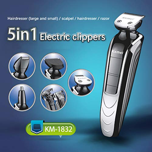 DHGCX Mens Hair Clipper Beard Trimmer Grooming kit Hair Trimmer Mustache Black