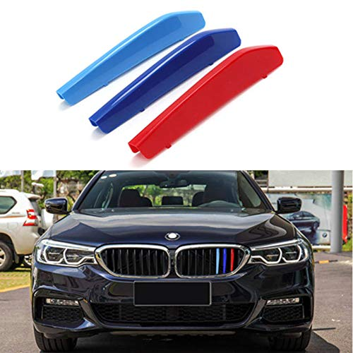 iJDMTOY Exact Fit //////M-Colored Grille Insert Trims Compatible With BMW F30 F31 3 Series 320i 328i 330i 335i 340i M-Performance Black Kidney Grilles 8 Beams NOT 11-Beam Standard Grille or 4 Series