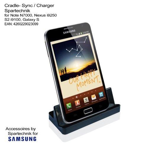 Dockingstation für Samsung Note uA* für Galaxy Note 2 i9220 N7000 Nexus i9250 Galaxy S2 S3 S4 S5 Alpha I9500 i9100 Galaxy S Advance GT-I9070 Galaxy Tab 3 K zoom.. Cradle: Synchronisation mit USB Kabel & Laden 230 Volt für PC Laptop