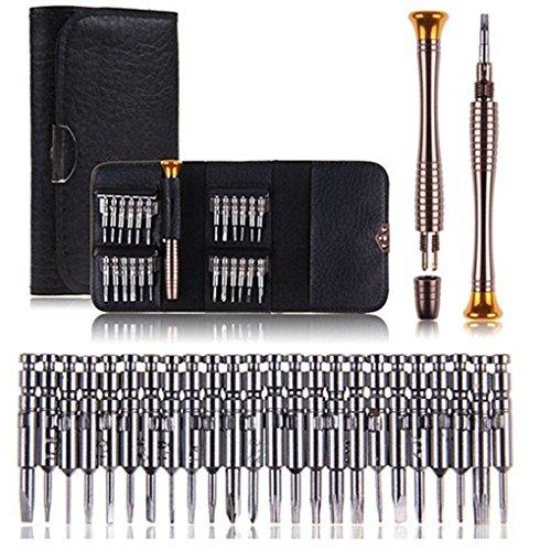 Multifuncional 25en 1Precisión Destornillador Set Reparación Kits de herramientas para teléfono iphone 6S 65S Samsung S87S7S6edge Macbook ordenador portátil gafas de sol relojes