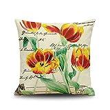 Beydodo Cojines Decorativos para Sofa,Flores,Funda Cojin 40x40...
