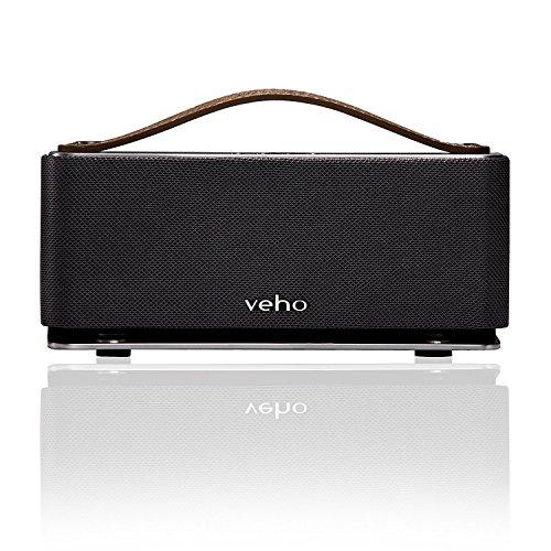 Veho VSS-012-M6-360-Modus Retro drahtlose Bluetooth Lautsprecher mit Mikrofon Silber schwarz onsize
