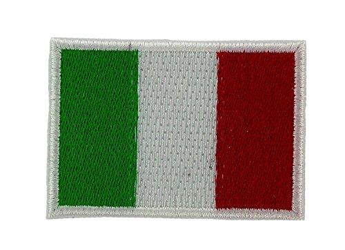 Applicatie Italiaanse vlag patch, geborduurd met sticker, 3 x 5 cm, 10 stuks