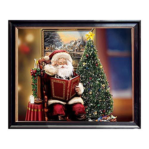 UrsoKuz Toile murale en forme de sapin de Noël pour décoration de Noël, impression de peinture murale pour la maison, le salon, 40,6 x 50,8 cm