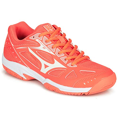 Mizuno Damen Cyclone Speed 2 Volleyball-Schuh, LivingCoral/SnowWht/Wht, 39 EU