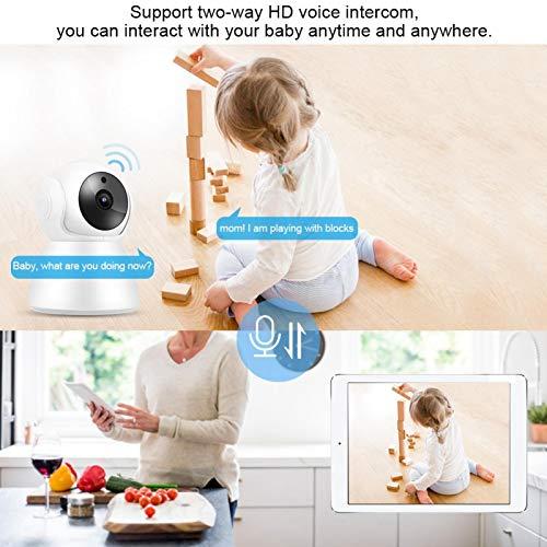 Cámara WiFi para Interiores, detección de Movimiento PIR de cámara Web para bebés IP para iOS para(European regulations, Transl)