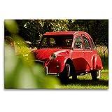 CALVENDO Toile Textile Haut de Gamme 120 cm x 80 cm, 2 CV après Une Pluie | Tableau sur châssis | Impression sur Toile sur Toile véritable – Citroën 2CV Technology | Technologie