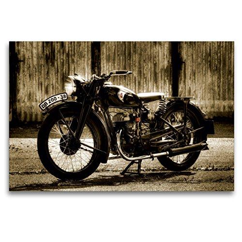 Premium Textil-Leinwand 120 x 80 cm Quer-Format Zündapp DB 200   Wandbild, HD-Bild auf Keilrahmen, Fertigbild auf hochwertigem Vlies, Leinwanddruck von Ingo Laue