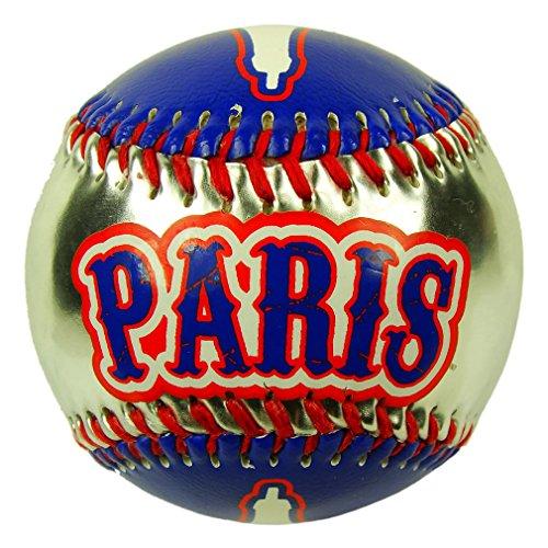Souvenirs de France - Balle de Baseball Paris Tour Eiffel - Bleu