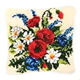 DIY Cushion Carpet Mat Latch Hook Rug Kits Cover Hand Craft Embroidery Pillowcase Crocheting Handmade Needlepoint for Baby Wedding Kids Parents Gift