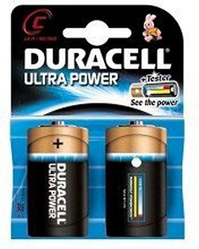 Duracell Ultra Power Alkaline C Batterien, 2er Pack