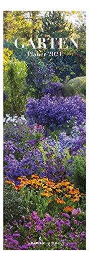 Gartenplaner 2021 - Streifen-Kalender 15x42 cm - Gartenkalender - Wandplaner - Küchenkalender - Alpha Edition
