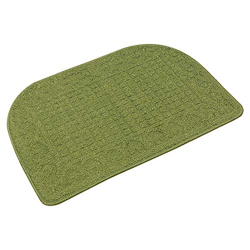 COSY HOMEER 27X18 Inch Anti Fatigue Kitchen Rug Mats are Made of 100% Polypropylene Half Round Rug Cushion Specialized in Anti Slippery and Machine Washable (Green 1pcs)