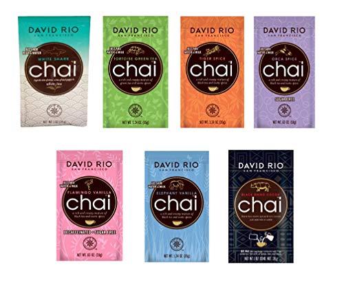 Probierpaket David Rio Chai Latte - 14 Portionsbeutel a 7 Sorten 336g