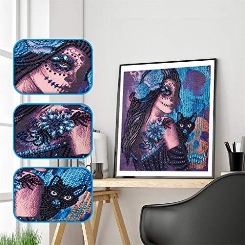 Multicolore Dauphins Diamond Painting Strass de peintures de Broderie de Halloween 5D coll/é la Peinture de Diamant de DIY Conqueror Peinture Diamant