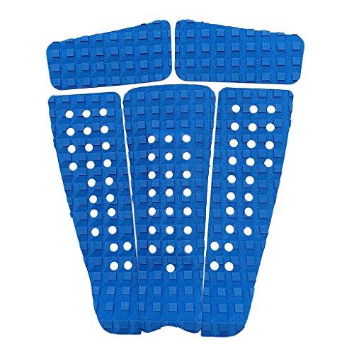 Homyl 5 unidades de tablas de surf alfombrilla antideslizante antideslizante - Azul