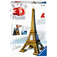 Ravensburger Eiffel Tower 216 Piece 3D Jigsaw Puzzle for Kids and Adults - Easy Click Technology Means Pieces Fit Together Perfectly