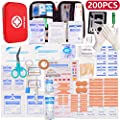 HONYAO First Aid Kit, Medical Kit with Hard Box - Compact Survival Emergency Bag for Car Home Workplace Outdoor Travel Camping Hiking Hunting First Aid by HONYAO