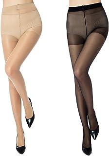 Mànzi Damen Strumpfhose 6er Pack Ultra-dünnen 20 DEN, 3 Hautfarbe,3 Schwarz…