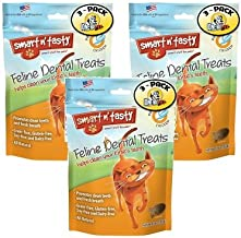 Smart n' Tasty Cat Chicken Dental Grain Free Treats (Pack of 3)